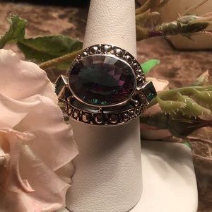 Gorgeous large stone Nicky Butler vintage ring 925